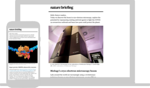 Nature Briefing displayed on a laptop and a mobile phone