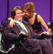 Christopher Reeve and his wife Dana campaigned for more research to treat paralysis.