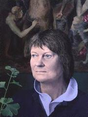Tom Phillips's portrait of Iris Murdoch, completed in 1986.