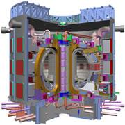 The ITER fusion reactor aims to heat a mass of gas plasma to 200 million °C.