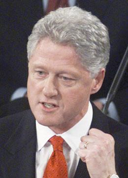 Bill Clinton: impressed by the revelatory power of DNA.