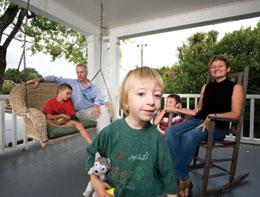 Rienhoff, Hane and the children at home.