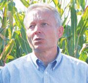 Andreas Schier had to stop his field trials of GM maize.