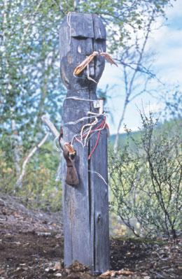 The totem of the thunder god at the Tunguska site.
