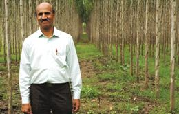 Harshkumar Kulkarni is helping farmers in Khammam district to grow trees for carbon credits.