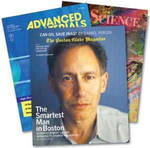 Robert Langer's papers make covers — as does he.