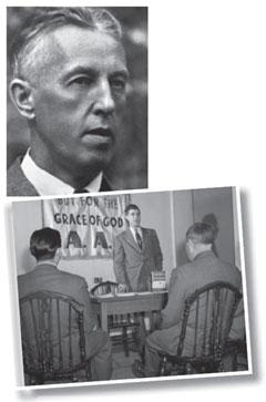 Bill Wilson (left) set up Alcoholics Anonymous in 1935. Its twelve-step paradigm is widely used to treat addiction.