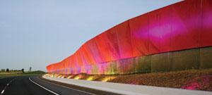 Light-emitting diodes, such as these in Craigieburn, Australia, can be combined to create huge displays.