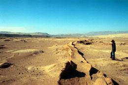 an irrigation canal once used by the Nazca