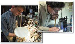 Watching flies: Michael Dickinson (left) and David Anderson use computer vision programs to advance their studies of fly behaviour.