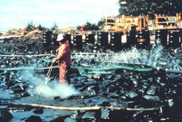 Limpeza depois do derrame do Exxon Valdez