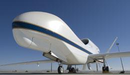 Nose for science: the Global Hawk will gather data during 30-hour flights.
