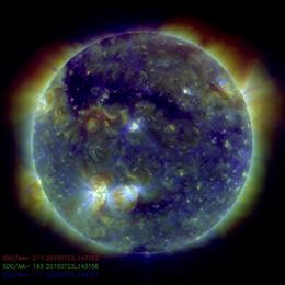 Picture of the sun on 23/7/10