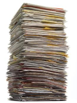 Stack of manuscripts