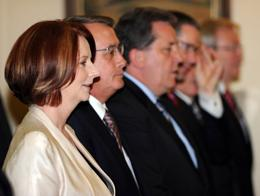 Julia Gillard and cabinet