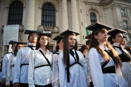 Students at Sofia University have joined protests over Bulgaria's plans to cut research and education funds.