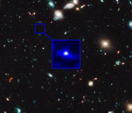 Hubble infrared image of oldest galaxy