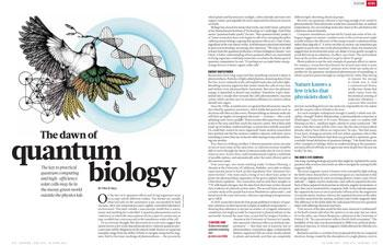 Physics of Life: The Dawn of Quantum Biology