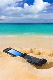 sunbathing phone