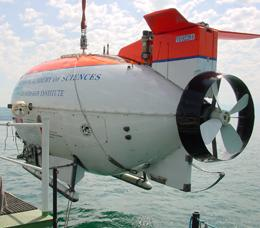MIR submersible in Lake Geneva