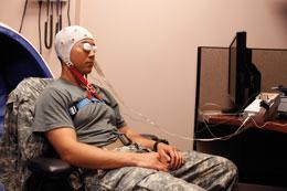 The US military is experimenting with the use of electroencephalography during the baseline pre-deployment testing of its troops.