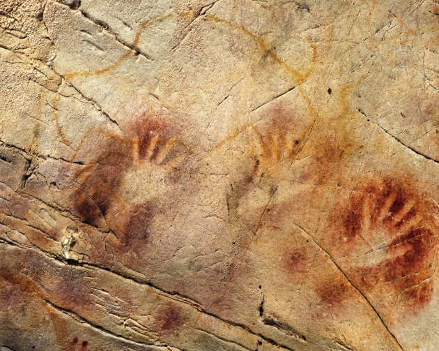 Spots and stencils in El Castillo cave, Spain -- one at least 40,800 years old -- might be the handiwork of Neanderthals. [PEDRO SAURA]