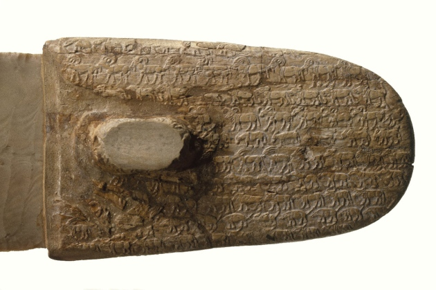 Ancient Egyptian artefacts, like this elaborately carved ivory knife handle from 3300-3100 BCE, helped scientists determine how mammal populations in Egypt have changed over time. Charles Edwin Wilbour Fund, Brooklyn Museum