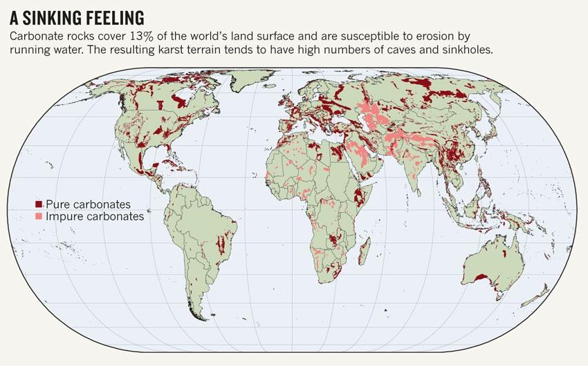 Sinkholes Map Jpg Nature News Comment