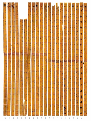 Science ancient times table hidden in chinese bamboo for Multiplication table of 99