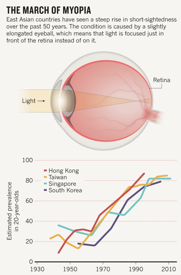 Myopia in East Asian countries
