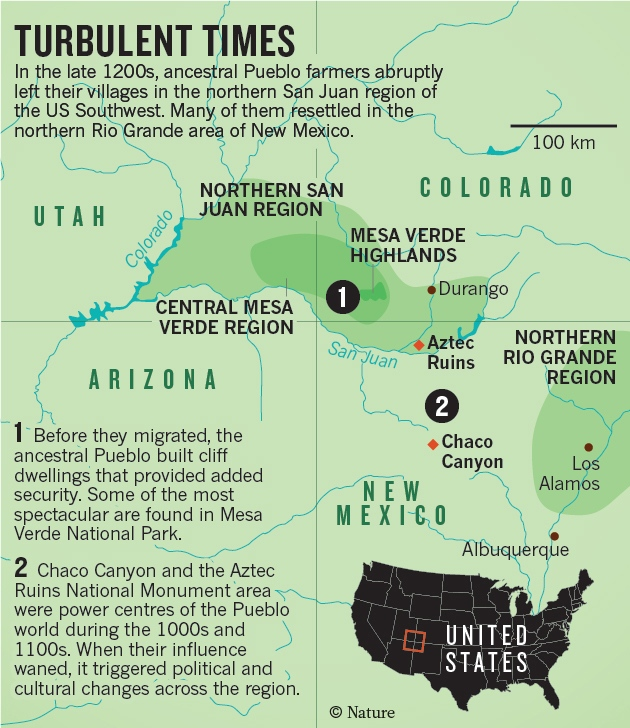 The Greatest Vanishing Act In Prehistoric America Nature News - Archaeological sites in the southwest us map
