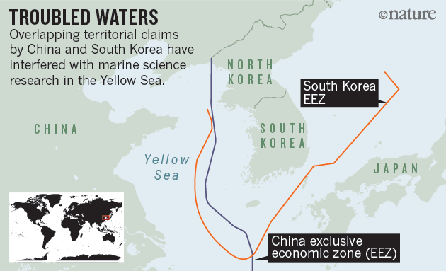 Yellow sea talks raise hopes for marine science nature news comment chinese data covering the yellow sea look cut in half because of the dispute says zuosheng yang a marine geologist at the ocean university of china in gumiabroncs Gallery