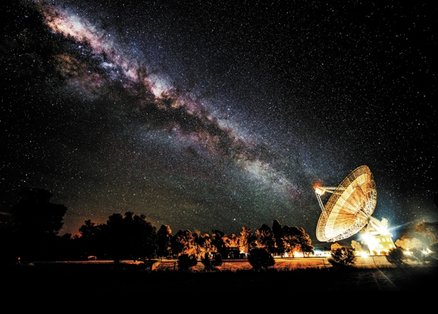 The Parkes telescope in Australia detected the first fast radio burst in 2001.