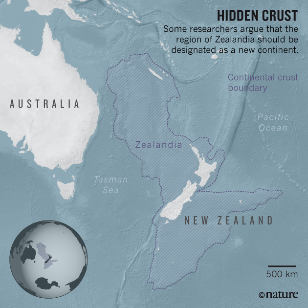 Geologists spy an eighth continent Zealandia Nature News Comment