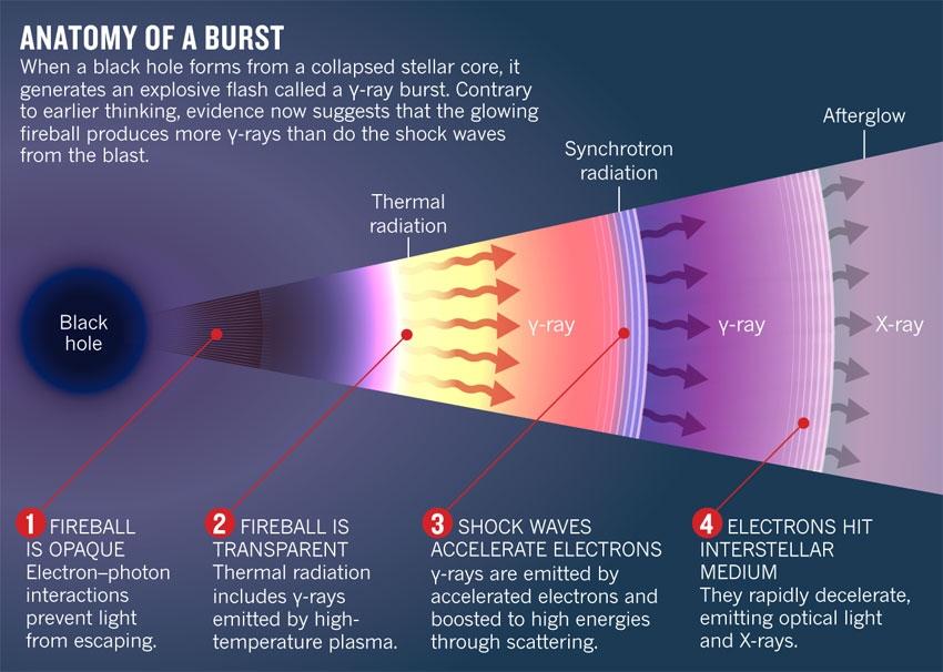 Anatomy of γ-ray Bursts (GRBs) : Physics