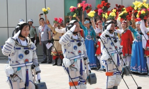 China's Astronauts return from a successful mission