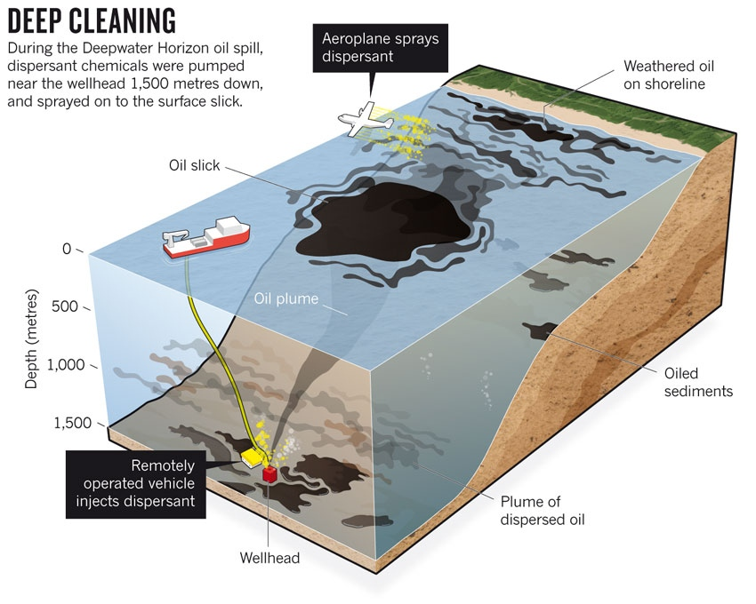 pantyhose and cleaning up oil spills
