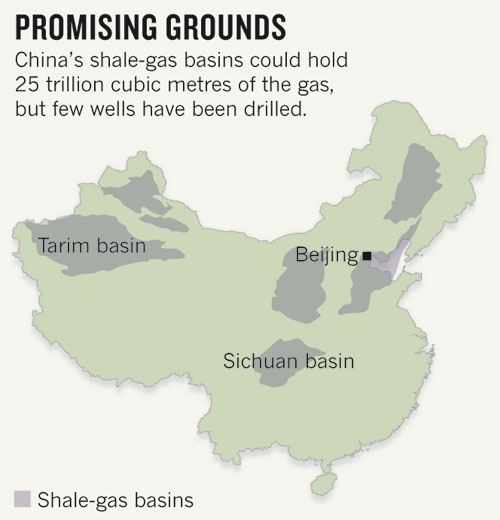 Chinese Shale Map