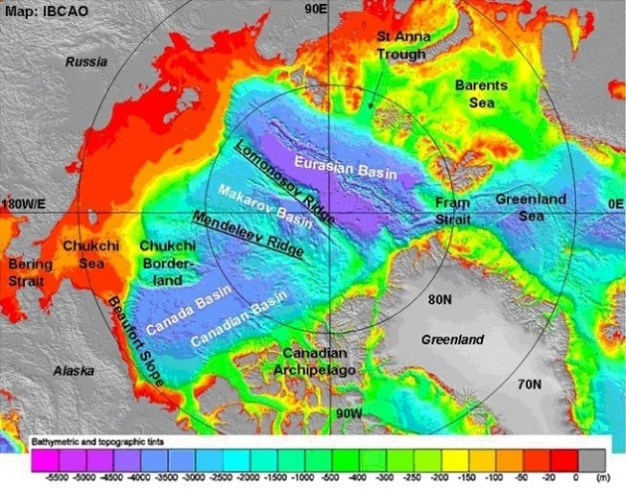 Arctic Ocean Circulation Going Around At the Top Of the World