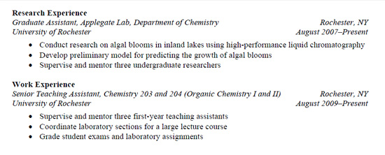 Resumes | Learn Science At Scitable