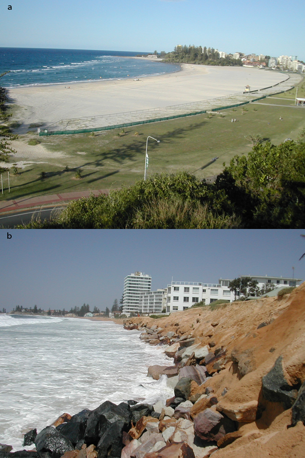 Greenmount Beach in Queensland, Australia widened by 200 m